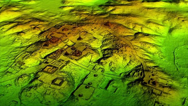 Tecnología De Vanguardia Revela Datos Sobre Los Mayas El mapa creado por Lidar de la selva en Guatemala
