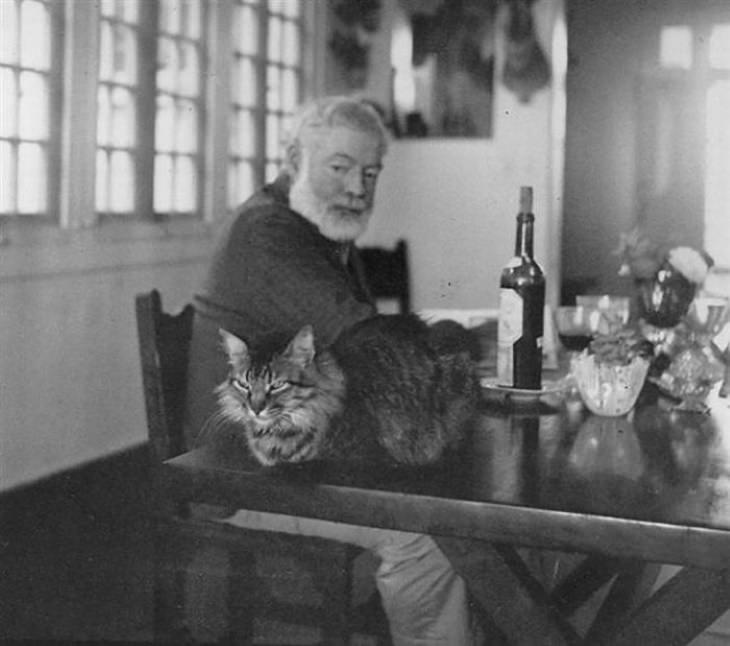 Personajes Famosos y Sus Gatos Ernest Hemingway