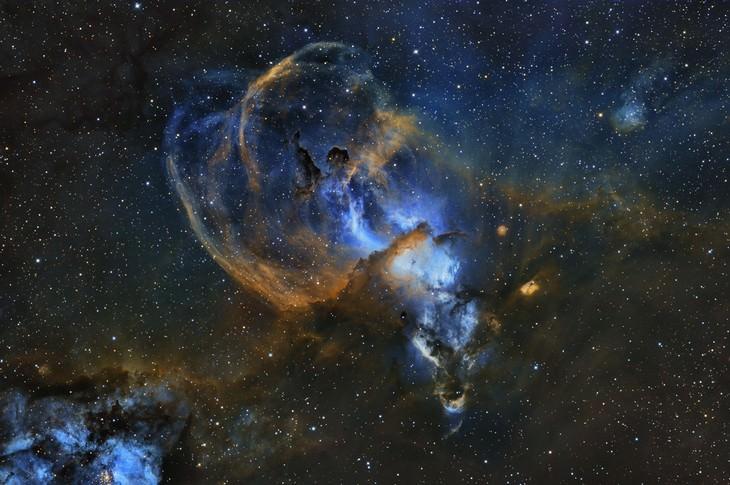 """Fotos Nos Muestran El Espectactular Universo """"Nebulosa de la Estatua de la Libertad"""" de Martin Pugh (Australia)"""