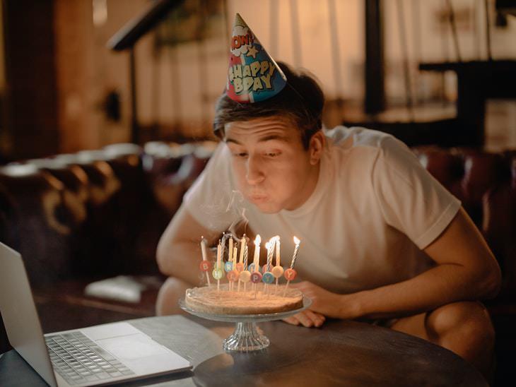 5. Respiración de velas de cumpleaños