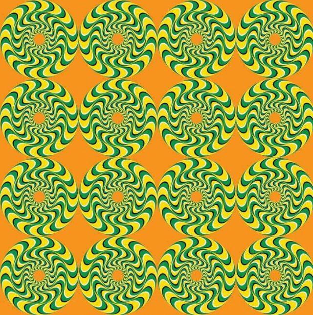 Ilusiones Ópticas Círculos verdes