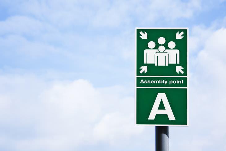 Artículos Esenciales En Emergencias Un lugar de reunión preestablecido