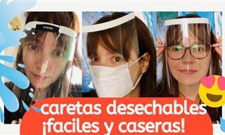 Protectores Faciales Para El Coronavirus Fáciles y Caseros