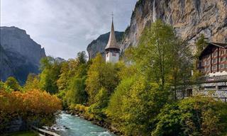 Una Serie De Fotografías y Video Del Valle De Lauterbrunnental