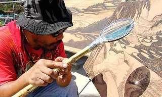 Obras De Arte Creadas Con Luz Solar y Una Lupa