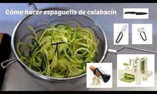 Te Enseñamos a Preparar Espaguetis de Calabacín