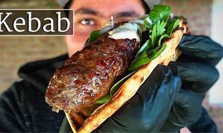 Delicioso Kebab De Cordero