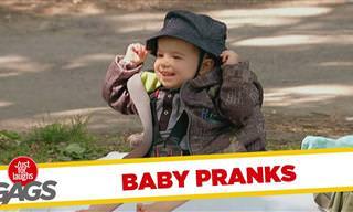 Estas Bromas Con Bebés Son Para Partirse De Risa