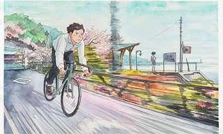 El Chico De La Bici, Una Historia En Acuarelas