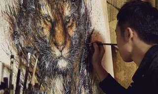 Manchas De Tinta y Majestuosos Animales