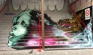 Estas Escaleras Se Transformaron En Arte...