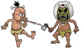 Divertido: Dos Caníbales Buscan Comida En La Jungla