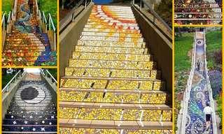 El Color y La Belleza De Las Escaleras