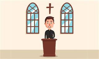 Chiste: El Sacerdote Que Reparte Cruces
