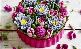 No Creerás Que Estas Tartas Florales Son Comestibles