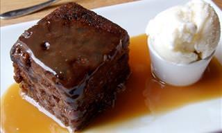 Receta De Un Delicioso y Dulce Pudín De Dátiles Con Caramelo
