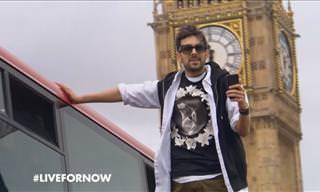 ¡Asombroso! Un Mago Levitando En Las Calles De Londres