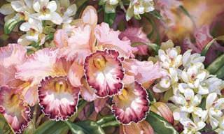 Las Mejores Pinturas De Flores Creadas Por Darryl Trott