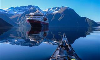 Los Fiordos Noruegos Desde Un Kayak
