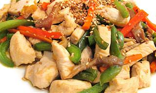 Receta: Pollo Con Verduras Estilo Chino