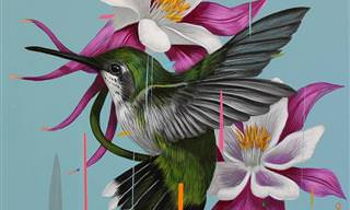La Belleza De Las Aves Reflejada En Coloridas Pinturas