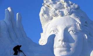 Asombrosas Esculturas Gigantes De Nieve