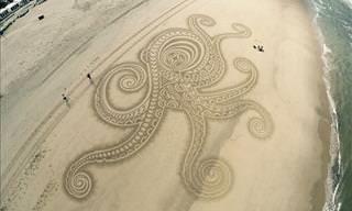 Una Brillante Colección De Obras De Arte Hechas Con Arena De Mar