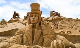 Impresionantes Esculturas de Arena en las Playas de Portugal