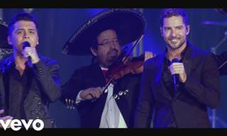 Desde Madrid David Bisbal y Christian Nodal