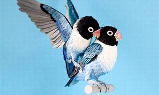 Esculturas De Pájaros Hechas De Papel