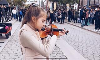 Violinista De 11 Años Interpreta Una Tema De Celine Dion