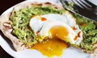 Pizzas De Aguacate y Huevo Para El Desayuno