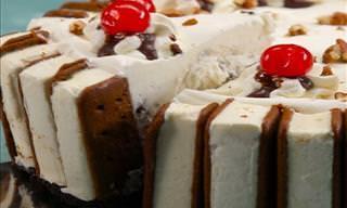 Receta Del  Tradicional y Sabroso Pastel De Sándwich De Helado