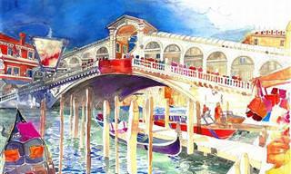 Artista Crea Coloridas Pinturas De Ciudades Mundanas