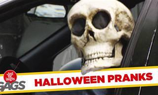 Bromas De Cámara Oculta: Se Acerca Halloween...