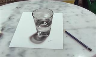 Dibujo Realista Que Crea Una Ilusión Visual