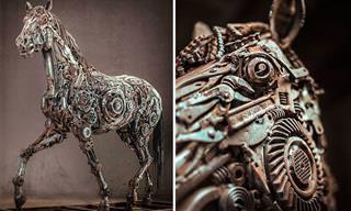Maravillosas Esculturas Artísticas Hechas Con Chatarra