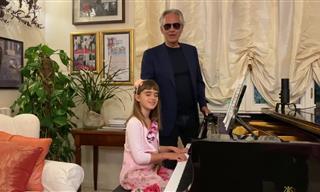 Andrea Bocelli Canta Esta Vez Con Su Hija Pequeña Virginia