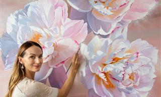 14 Pinturas De Flores Increíblemente Realistas