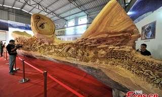 La Escultura En Madera Más Larga Del Mundo