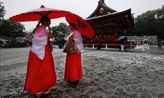 Tokio Ve Nevar Por Primera Vez En 50 Años