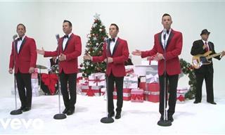 """Disfruta Del Clásico """"White Christmas"""" En Las Voces De Un Cuarteto"""