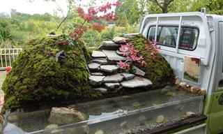 Increíbles Jardines En Camionetas Japonesas