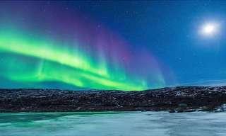 La Magia De La Aurora Boreal En La Noche