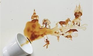 Pequeñas Obras De Arte Creadas Con Café