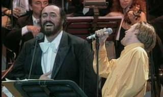 """Bryan Adams & Luciano Pavarotti Cantan """"'O Sole Mio"""""""