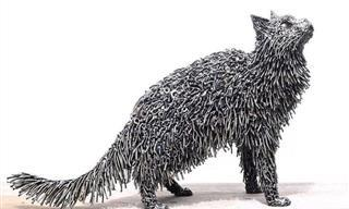 20 Magníficas Esculturas Hechas Completamente De Chatarra