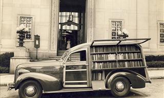 20 Nostálgicas Fotografías De Las Bibliotecas Ambulantes Del Pasado