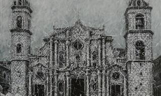 Las Obras De Arte Con Efecto De Tejido De Alexi Torres