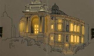 Artista Crea Bocetos Realistas Brillantes De Arquitectura